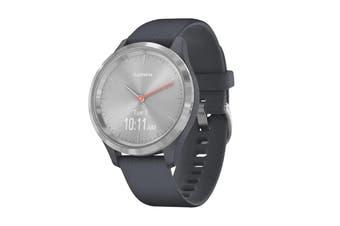Garmin Vivomove 3S Hybrid Smart Watch (Silver/Granite Blue)