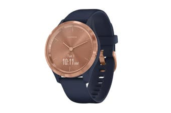 Garmin Vivomove 3S Hybrid Smart Watch (Rose Gold/Navy)