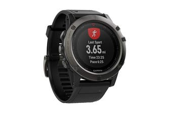 Garmin Fenix 5X Sports Watch with Black Band (Slate Grey Sapphire)