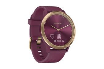 Garmin Vivomove Hr - 43mm (Sport, Merlot-Gold, S/M)