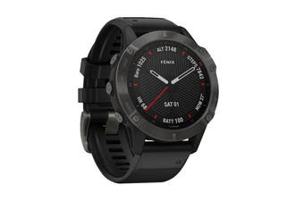 Garmin Fenix 6 Sapphire - 47mm (Gray with Black Band)