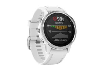 Garmin Fenix 6S - 42mm (Silver with White Band)