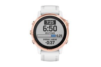 Garmin Fenix 6S Pro Sports Watch (Rose Gold/White)
