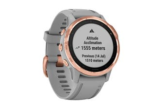 Garmin Fenix 6S Sapphire  - 42mm (Rose Gold with Gray Band)