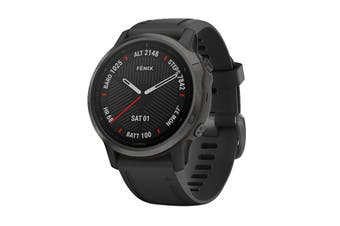 Garmin Fenix 6S Sapphire - 42mm (Carbon Grey DLC with Black Band)