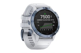 Garmin Fenix 6 Pro Solar (Mineral Blue with Whitestone Band)