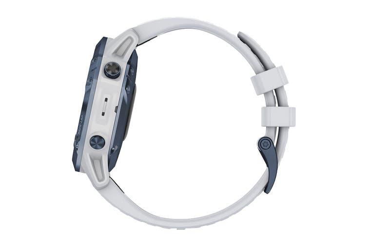 Garmin Fenix 6 Pro Solar (Mineral Blue with Whitestone Band)
