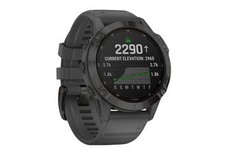 Garmin Fenix 6 Pro Solar (Black with Slate Grey Band)
