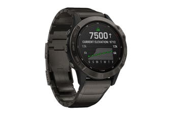 Garmin Fenix 6 Pro Solar (Titanium Carbon Grey DLC with Titanium DLC Band)