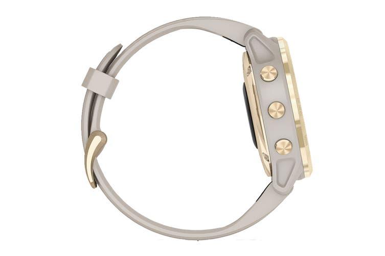 Garmin Fenix 6S Pro Solar (Light Gold with Light Sand Band)