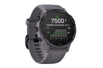 Garmin Fenix 6S Pro Solar (Amethyst Steel with Shale Grey Band)