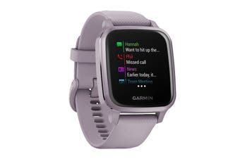 Garmin Venu Sq (Metallic Orchid Aluminium Bezel with Orchid Case and Silicone Band)