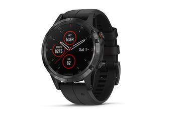 Garmin Fenix 5 Plus Sapphire Edition Black with Black Band