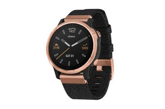 Garmin Fenix 6S Sapphire Pro (Rose Gold with Black Nylon Band)