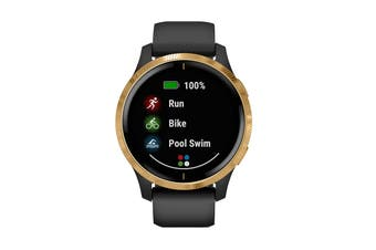 Garmin Venu (Black with Gold Hardware)