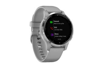 Garmin Vivoactive 4S (Powder Gray with Silver Hardware)