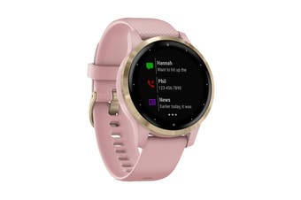 Garmin Vivoactive 4S (Dust Rose with Light Gold Hardware)