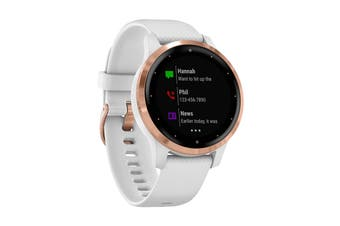 Garmin Vivoactive 4S (White with Rose-gold Hardware)