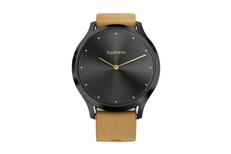 Garmin Vivomove HR Premium (Onyx with Tan Suede Band)
