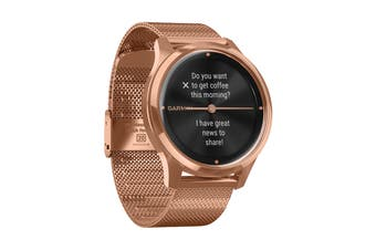 Garmin Vivomove Luxe (18K Rose Gold PVD Stainless Steel Case with Rose Gold Milanese Band)