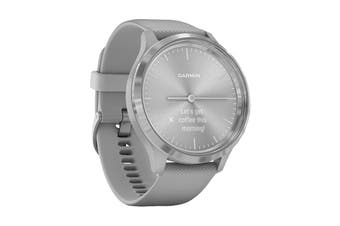 Garmin Vivomove 3 (Silver Stainless Steel Bezel with Powder Gray Case and Silicone Band)