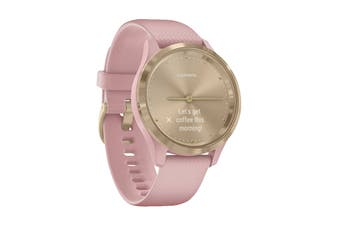 Garmin Vivomove 3S (Light Gold Stainless Steel Bezel with Dust Rose Case and Silicone Band)