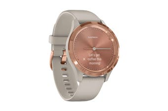 Garmin Vivomove 3S (Rose Gold Stainless Steel Bezel with Light Sand Case and Silicone Band)
