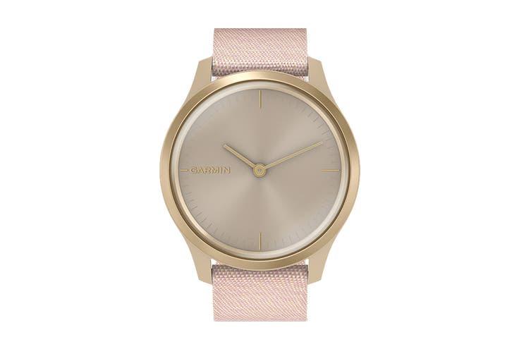 Garmin Vivomove Style (Light Gold Aluminum Case with Blush Pink Woven Nylon Band)