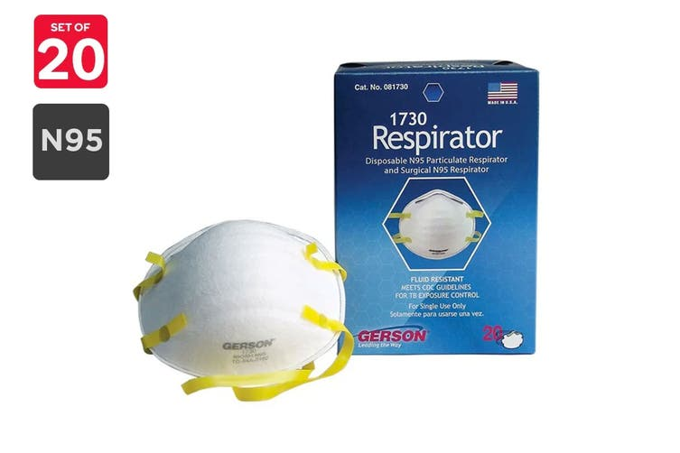 Gerson N95 1730 Particulate Respirator Masks (20 Pack)
