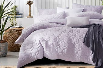Gioia Casa Quilted Jersey Quilt Cover (Queen/Soft Lavender)