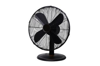 Goldair 30cm Metal Desk Fan Matt Black (GCDF190)