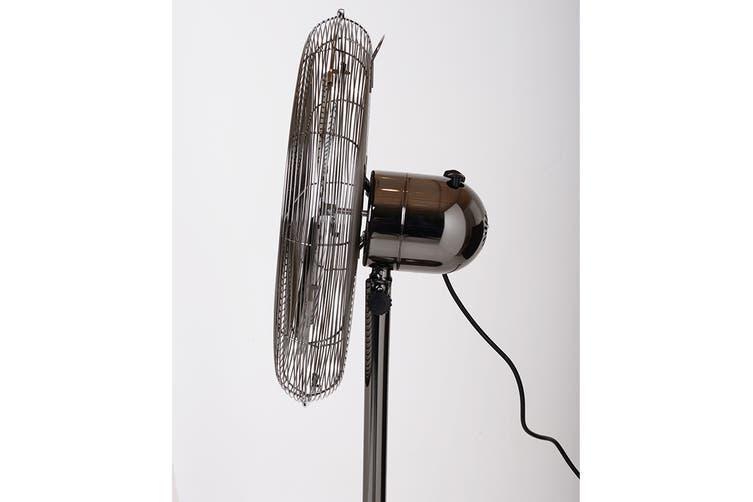 Goldair 45cm Black Chrome Pedestal Fan (GCPF265)