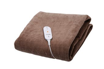 Goldair Micro Fleece Heated Throw with 3 Heat Settings - Brown (GEFT240)