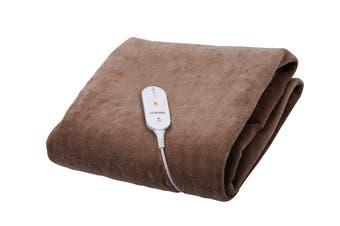 Goldair Micro Fleece Heated Throw with 3 Heat Settings - Brown (GEFT240)