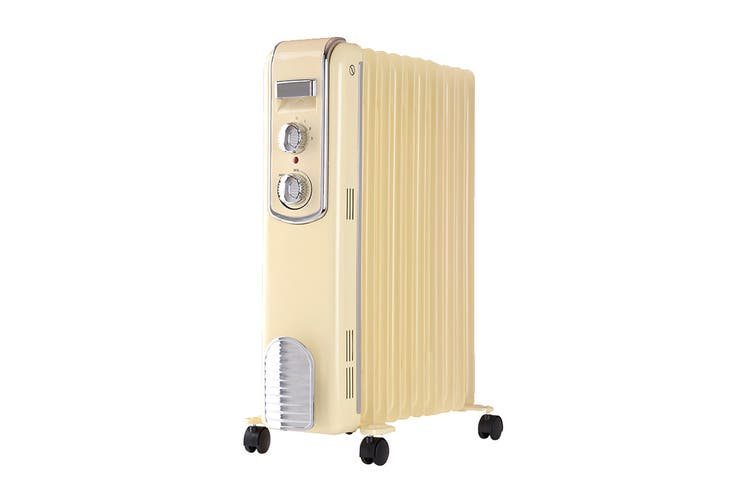 Goldair 2400W 11 Fin Retro Oil Column Heater with 3 Heat Settings (GOC1711C)
