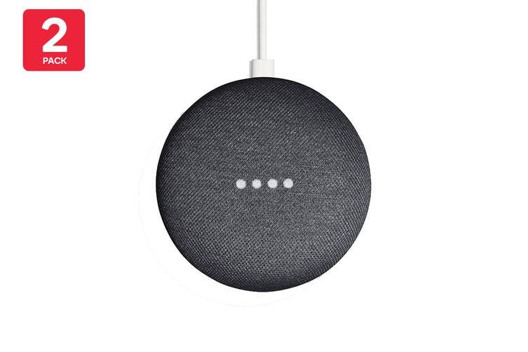 Google Nest Mini (Charcoal) - AU/NZ Model - 2 Pack