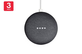 Google Nest Mini (Charcoal) - AU/NZ Model - 3 Pack