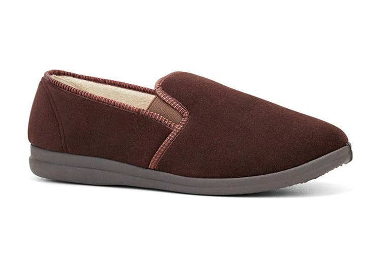 Grosby Men's Percy Slippers (Chocolate, Size 11 UK)