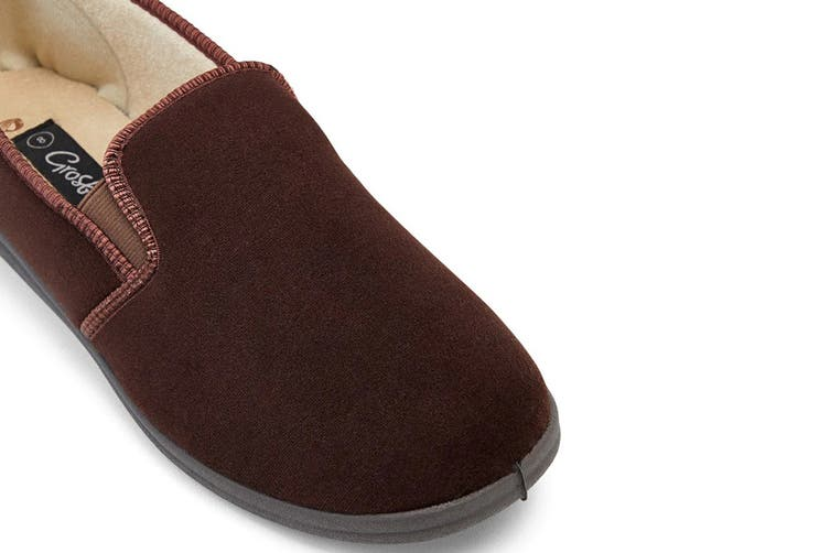 Grosby Men's Percy Slippers (Chocolate, Size 8 UK)