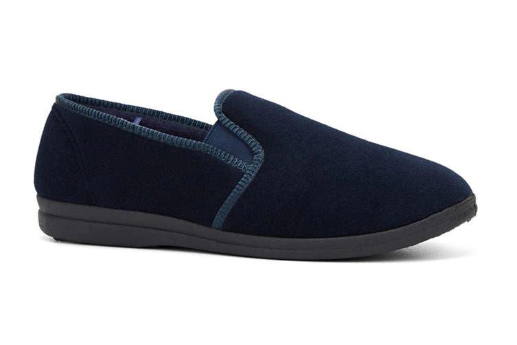 Grosby Men's Percy Slippers (Navy, Size 13 UK)