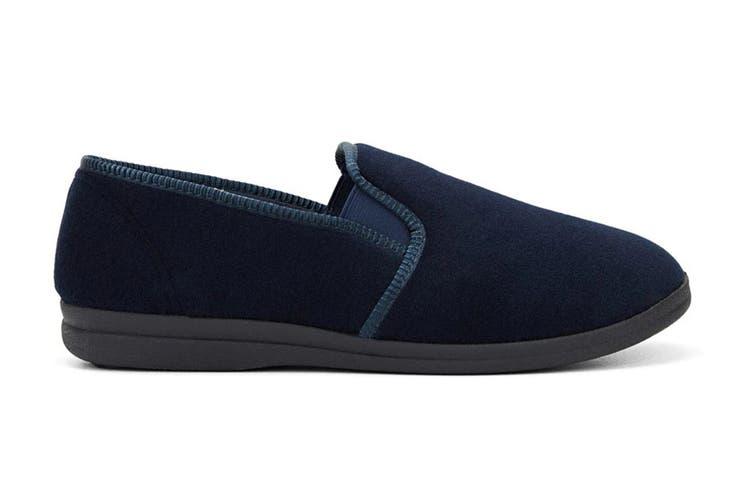 Grosby Men's Percy Slippers (Navy, Size 8 UK)