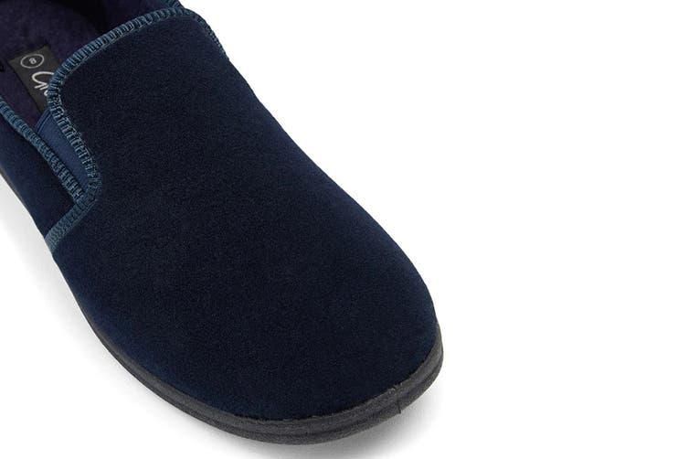 Grosby Men's Percy Slippers (Navy, Size 9 UK)