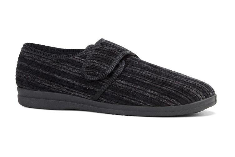 Grosby Men's Thurston Slippers (Black, Size 8 UK)