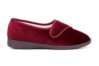Grosby Women's Lilian Slippers (Wine, Size 7 US)