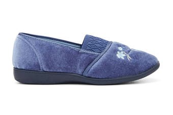 Grosby Women's Sasha Slippers (Mid Blue, Size 8 US)