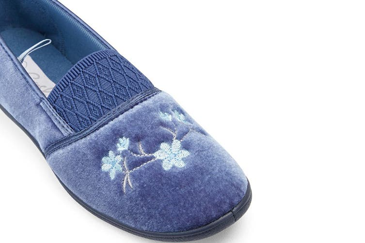 Grosby Women's Sasha Slippers (Mid Blue, Size 9 US)