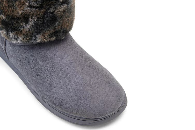Grosby Women's Invisible Sabrina Slippers (Grey, Size 5 UK)
