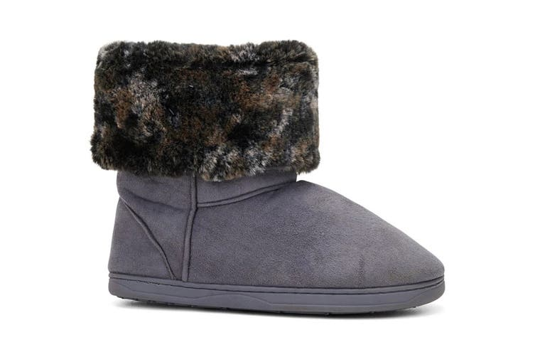 Grosby Women's Invisible Sabrina Slippers (Grey, Size 6 UK)