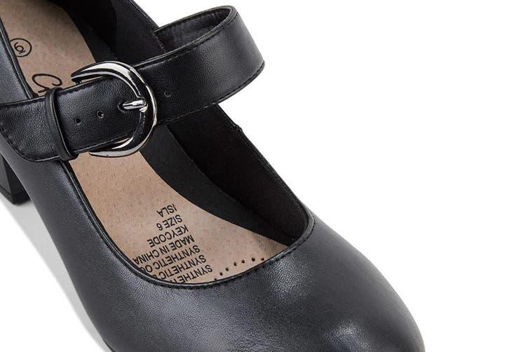 Grosby Women's Isli Heels (Black, Size 6 US)