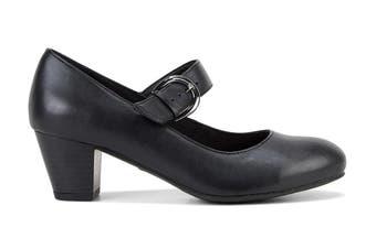 Grosby Women's Isli Heels (Black, Size 7 US)